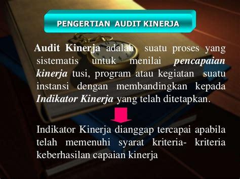 Pemeriksaan Kinerja Performance Auditing audit kinerja
