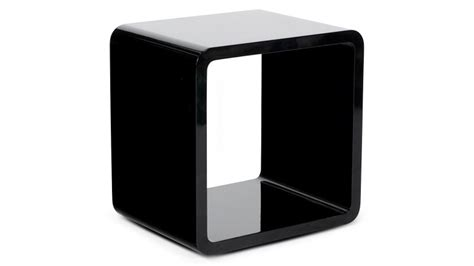 cube table l chevet design cube ou table d appoint laqu 233 e acton