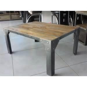 table basse industriel acier et bois m d 233 co industriel