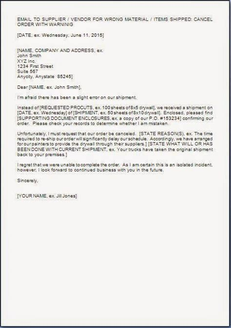 purchase order cancellation letter format  word