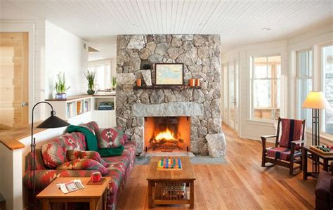 Living Room With Fireplace In Middle by 100 Fireplace Design Ideas For A Warm Home During Winter