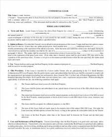 Commercial Property Rental Agreement Template Sample Commercial Lease Agreement 7 Documents In Pdf