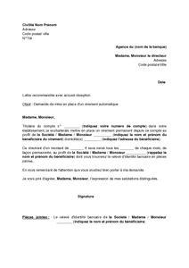 Exemple De Lettre De Demande De Relevé Bancaire Modele Lettre Demande Virement Banque