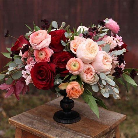 floral centerpiece best 25 burgundy floral centerpieces ideas on