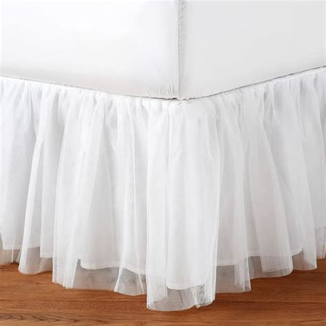 girls bed skirt tutu tulle bedskirt pbteen