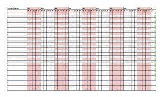 38 free printable attendance sheet templates free