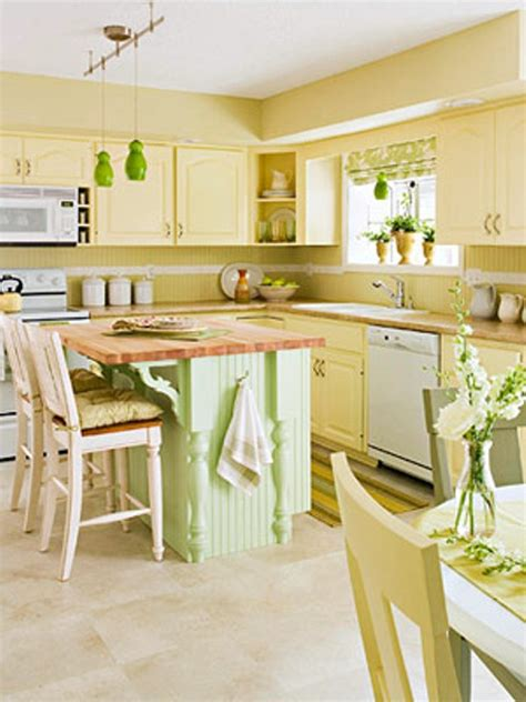Decorating Ideas For Kitchen With Yellow Walls желтые обои для кухни