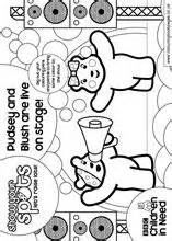 Pudsey Template Printables by Children In Need Colouring Pages 6 Colour In Books