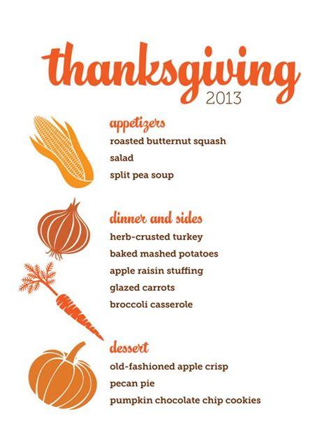 thanksgiving dinner menu template customizable thanksgiving menus hgtv