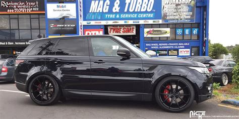 black land rover with black rims land rover range rover sport niche misano m117 wheels