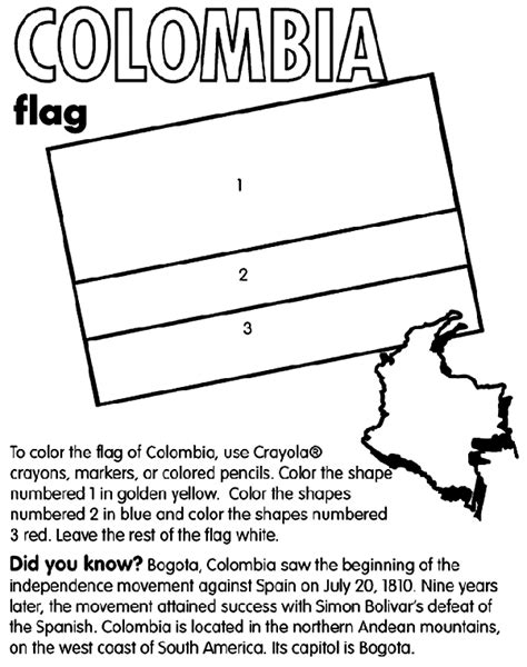 colombia map coloring page colombia crayola co uk
