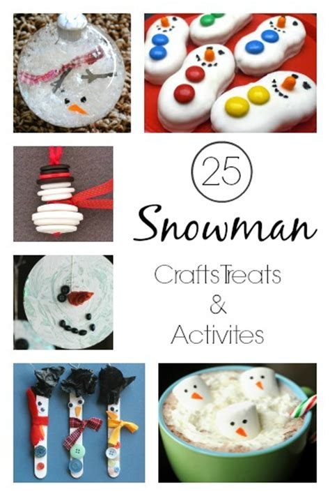 crafts treats 25 snowman crafts activities and treats happy hooligans