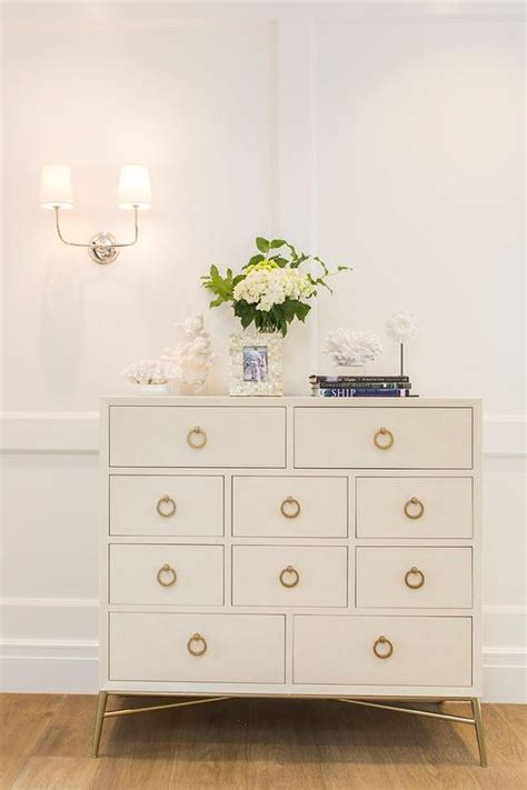 gold dresser foyer with white dresser and gold ring pulls