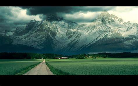 hd fantastic mountains  beautiful farms wallpaper