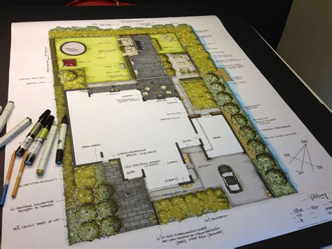 floor plan rendering techniques tuinontwerp particuliere tuin door de tuinarchitecten van