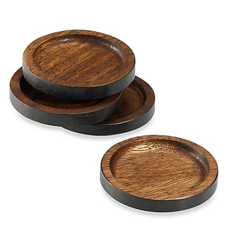 bed bath and beyond coasters buy noritake 174 kona wood coasters set of 4 from bed bath