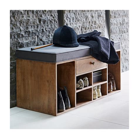 hallway storage bench for shoes shoe storage bench with drawer grey within home