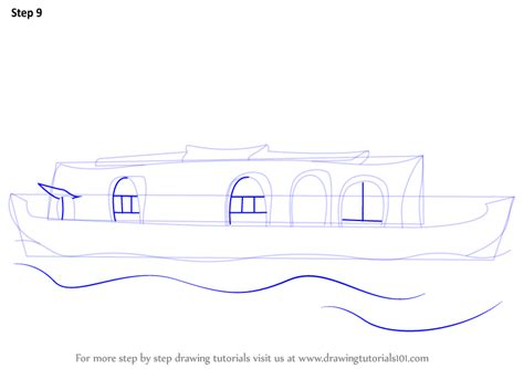boat house drawing learn how to draw a boat house boats and ships step by