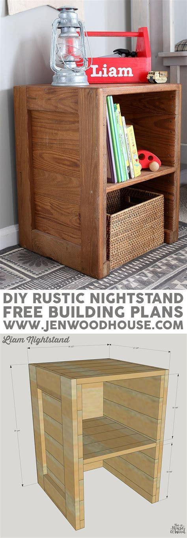 plans diy rustic nightstand rustic nightstand diy