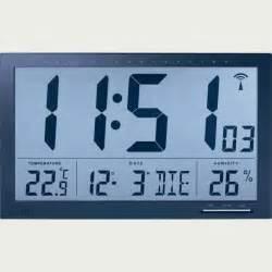 horloge murale affichage digital horloge calendrier murale radio pilot 233 e cflou