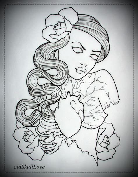 tattoo outline designs free dead design outline by oldskulllovebymw