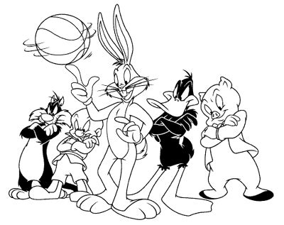 space jam monstars coloring pages junior jam