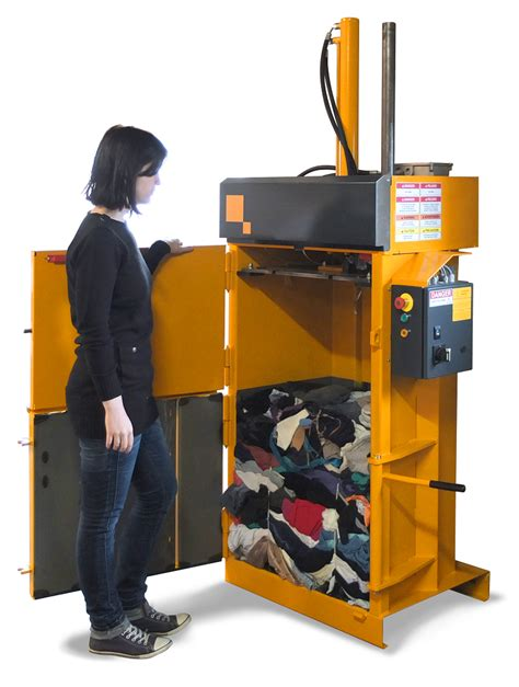 trash crusher peewee textile clothing baler
