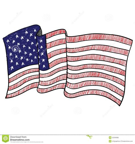sketchbook usa american flag sketch stock vector image of flag doodle