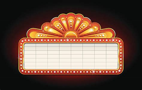theater marquee illustrations royalty  vector
