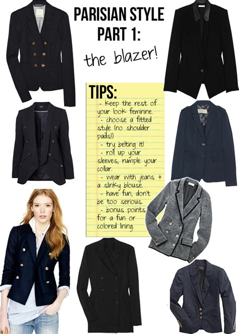 Parisian Chic Wardrobe Essentials by Parisian Style Part 1 The Blazer The Stripe