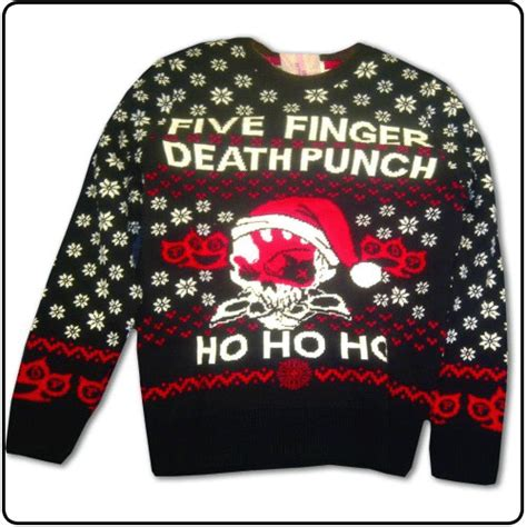five finger death punch xmas jumper five finger death punch ugly christmas sweater jumpers sale