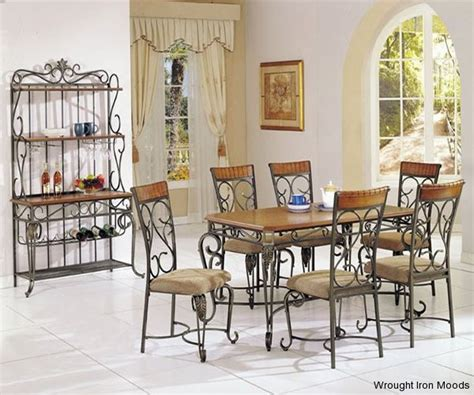 rod iron dining room set wrought iron dining sets
