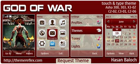 god themes nokia god of war themes themereflex