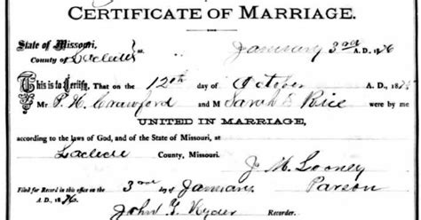 Missouri Marriage Records Thoughts From Polly S Granddaughter H