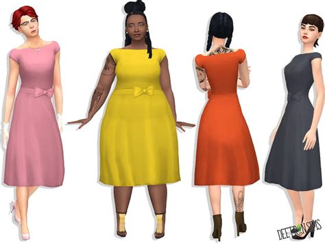 js sims 4 bow collar dress sims 4 bow dress audrey bow dress at deetron sims 187 sims