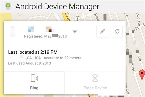 android device manager history find my android phone track android phone