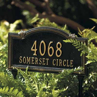 Ballard Design Reviews somerset arch address sign traditional house numbers
