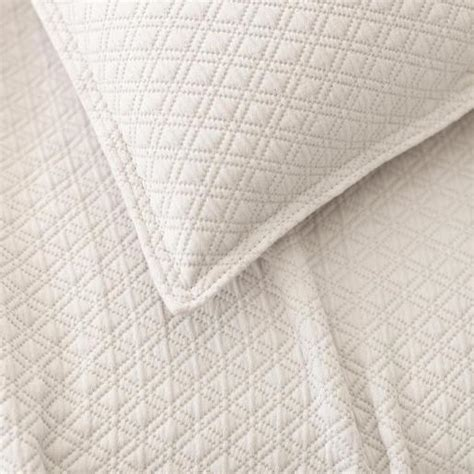 diamond matelasse coverlet diamond platinum matelasse white coverlet
