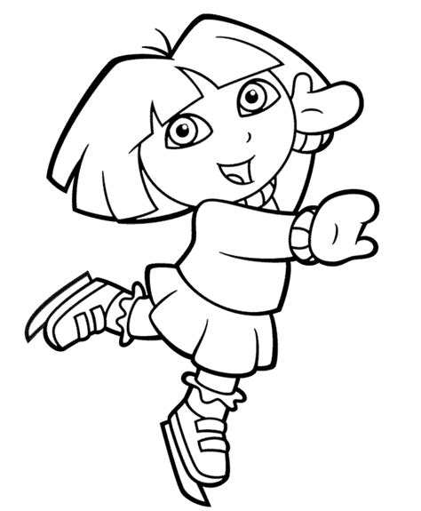 coloring pictures of dora the explorer to print dora the explorer coloring pages bestofcoloring com
