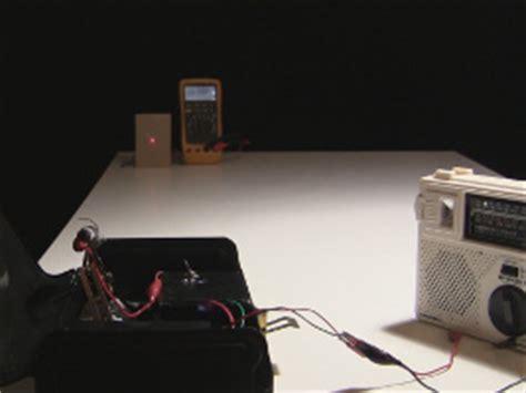 photoresistor laser communicating via laser to photoresistor