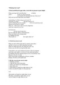 song worksheet thinking out loud