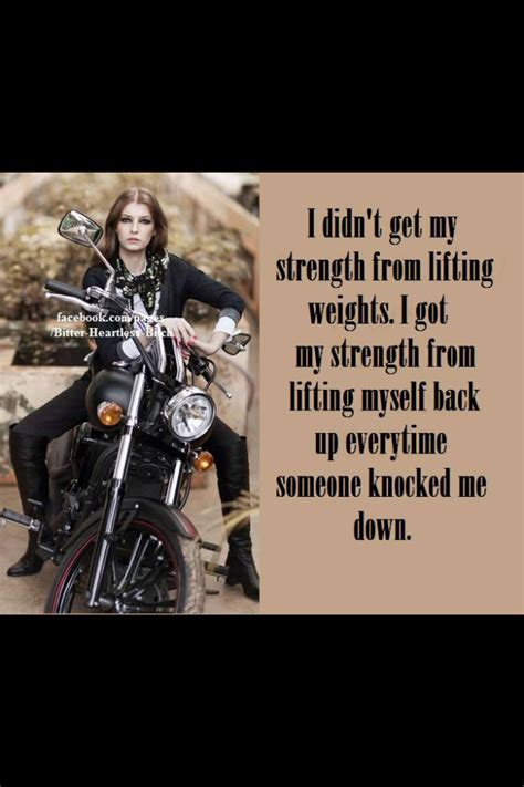 Motorrad Gang Spr Che by Biker Chick Strenght Iron Cowgirl On Triumph Pinterest