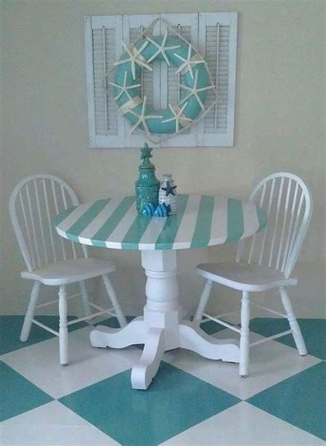 my new and easy to do coastal kitchen table and chairs