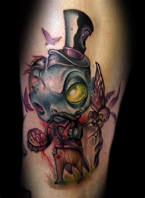 zombie tattoo gallery dapper gentleman zombie tattoo by kelly doty tattoos