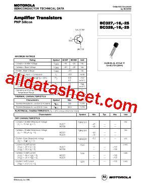 transistor bc337 16 bc328 16 datasheet pdf motorola inc