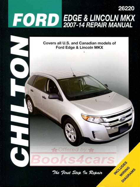 car repair manuals online free 2012 ford e150 security system ford edge lincoln mkx shop manual service repair book chilton haynes 2007 2014 ebay
