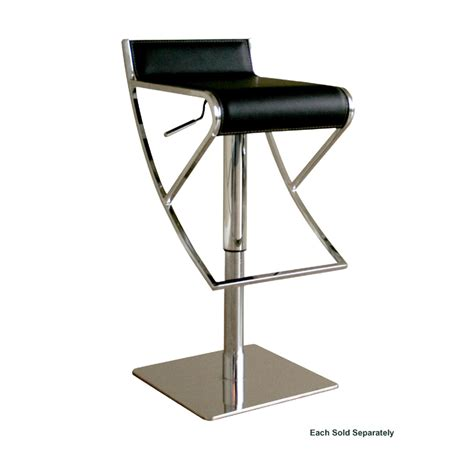 Wholesale Bar Stools by Wholesale Interiors Adjustable Leather Bar Stool Black Alc 2215 Black