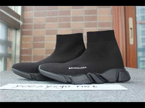Balenciaga Top Speed Trainer Black Black auth bnib balenciaga speed trainer all black from yeezysgo