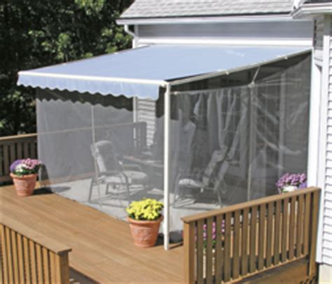 mosquito netting for retractable awnings sunsetter retractable awnings awning accessories