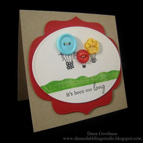 Handmade Cards With Buttons - what to do with buttons